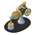 KG09 Gamma style Stirling engine manual