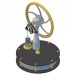 KS90R Ross yoke Stirling engine